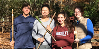 Interact Volunteers During Fall Clean Up photo